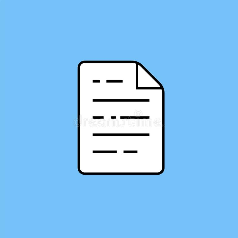 Document page line icon royalty free illustration