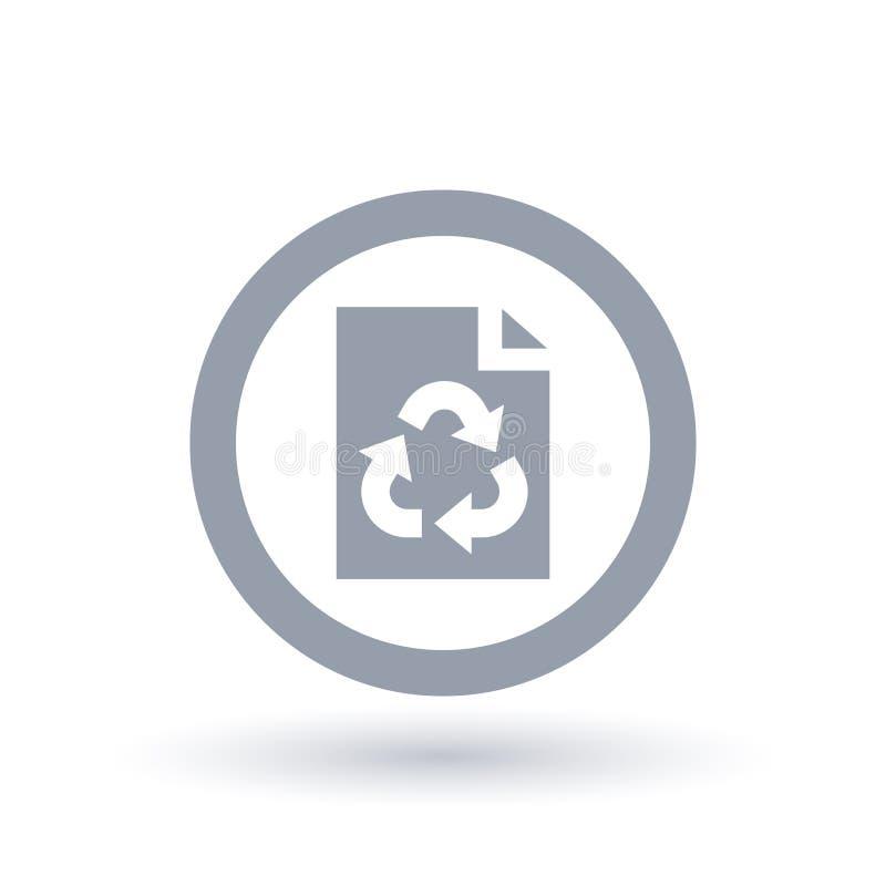 Document pagina kringlooppictogram Bureau recyclingssymbool royalty-vrije illustratie