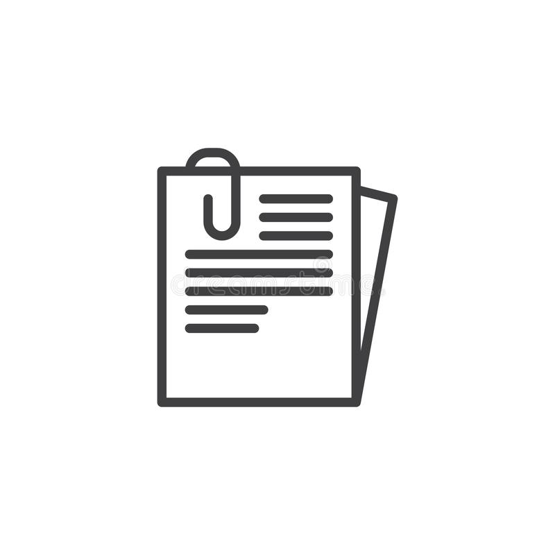 Free Document Paper Clip Line Icon Royalty Free Stock Image - 107177876