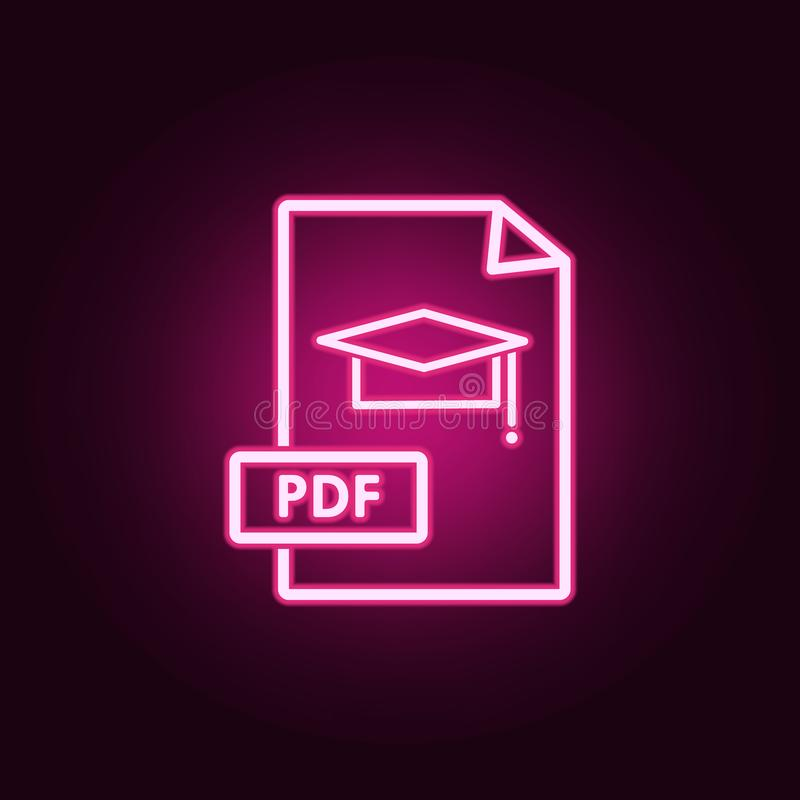 Document PDF Icon  Element Of Education For Mobile Concept And Web