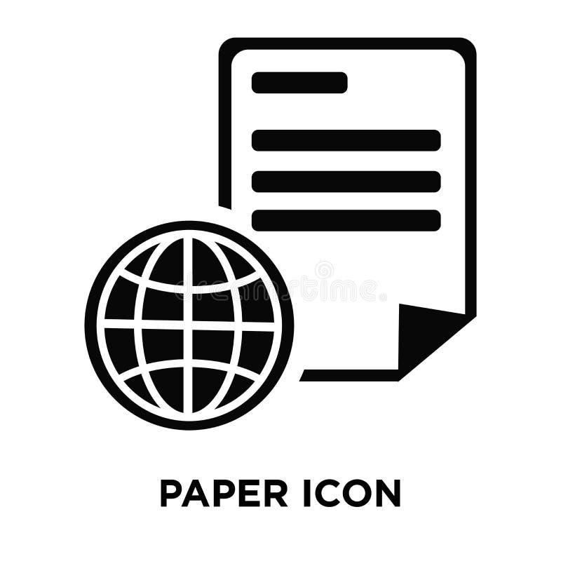 Document pictogramvector op witte achtergrond, embleemconcept wordt geïsoleerd dat van royalty-vrije illustratie