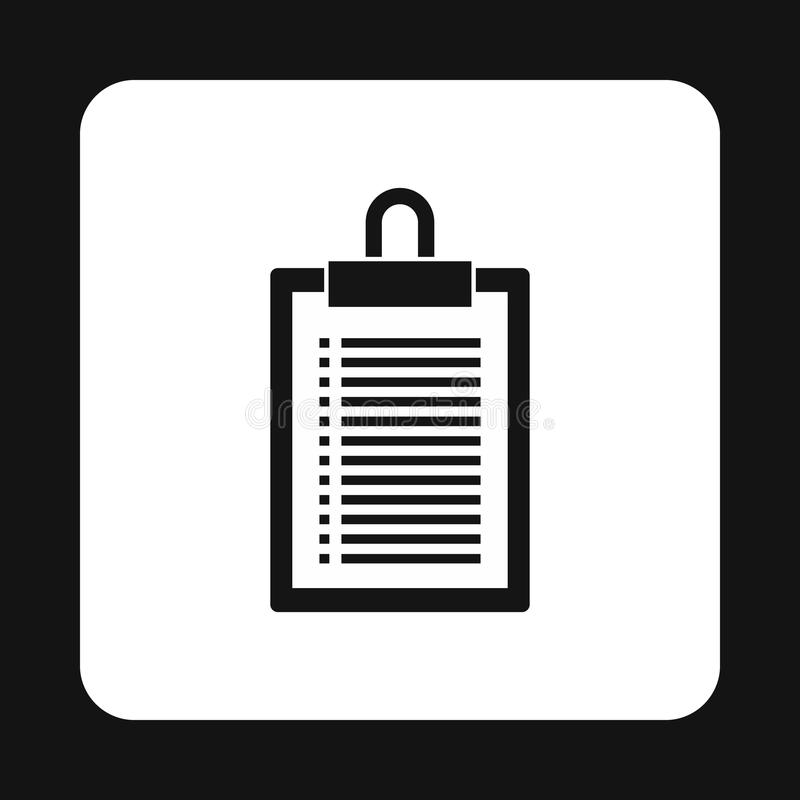 Document plan icon, simple style vector illustration