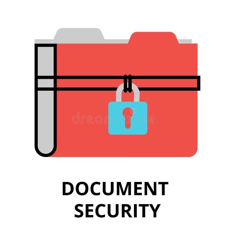 Document security icon, flat design vector illustration vector illustration