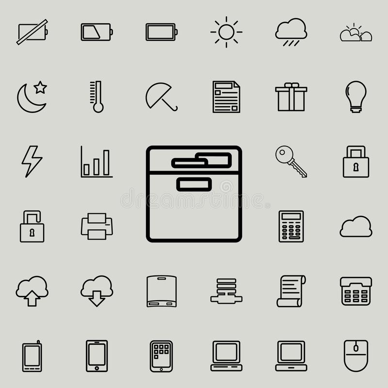 document shelf icon. Detailed set of minimalistic icons. Premium graphic design. One of the collection icons for websites, web des vector illustration