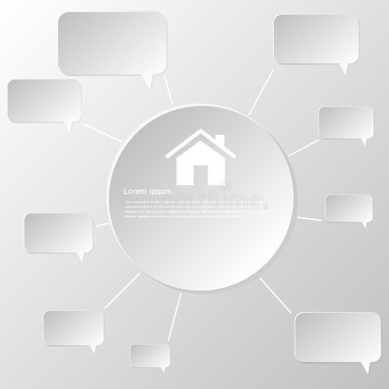 Document sociaal netwerkart. royalty-vrije stock afbeeldingen