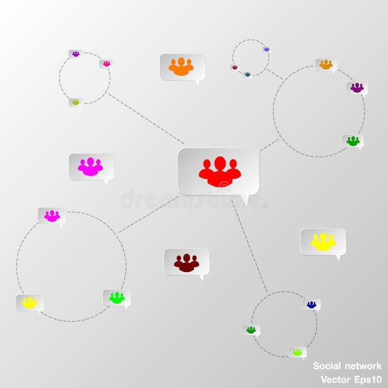 Document sociaal netwerkart. royalty-vrije stock foto's