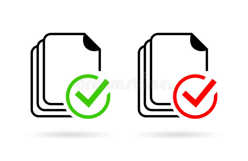 Document spelling grammar control icon. Documents spelling grammar control icons set vector illustration
