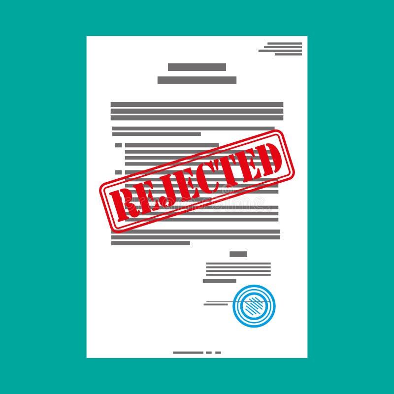 Document sur papier rejeté illustration stock