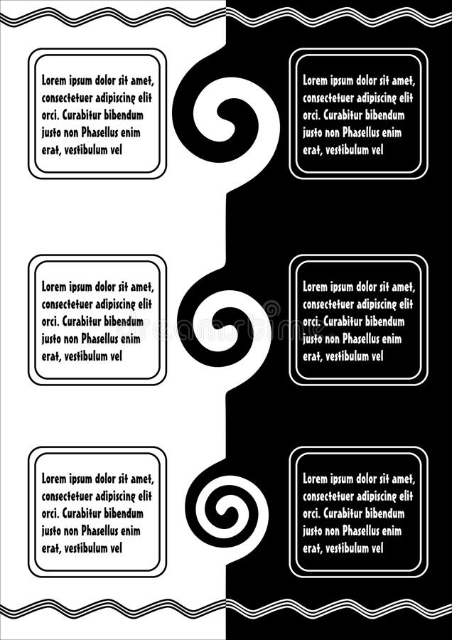Document template for two language text vertical composed download document template for two language text vertical composed background in black and white inverse spiritdancerdesigns Gallery
