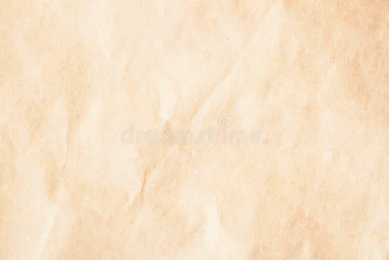 Document textuur, uitstekende kartonachtergrond voor ontwerp met exemplaar ruimteteksten of beeld Rekupereerbaar materiaal gerimp royalty-vrije stock foto
