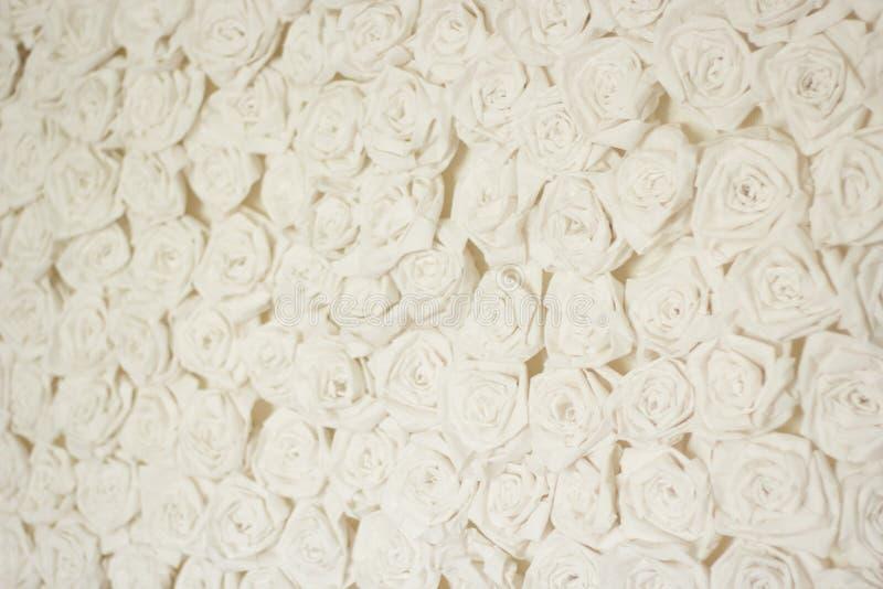 Document uitstekende witte rozen stock fotografie