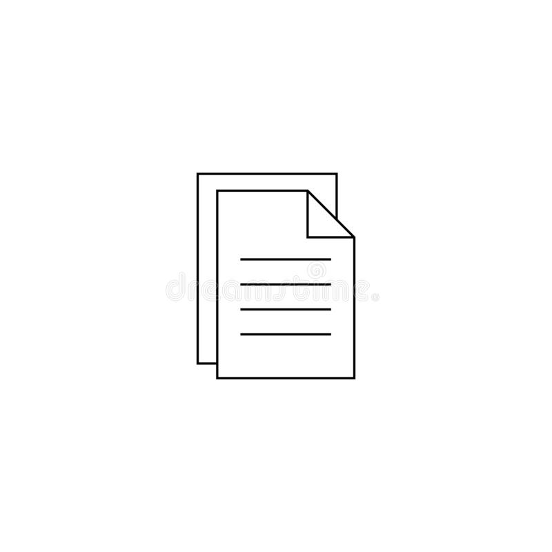 Document vector icon. Illustration isolated for graphic and web design. vector illustration