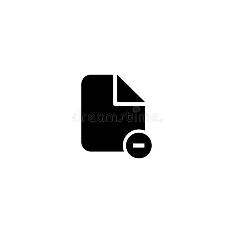 Document vector icon. Illustration isolated on white background. EPS10 royalty free stock photos