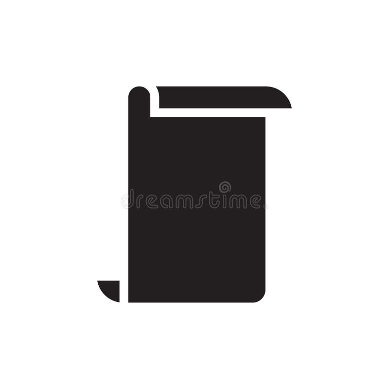 Document vector van de pictogram de grafische ontwerpsjabloon royalty-vrije illustratie