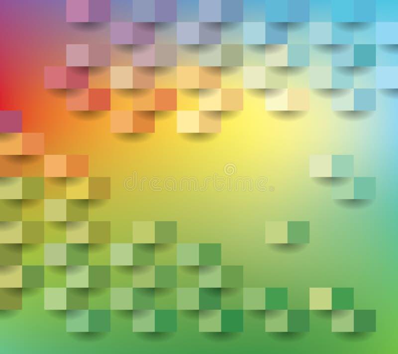 Document vierkante regenboog 13 royalty-vrije illustratie