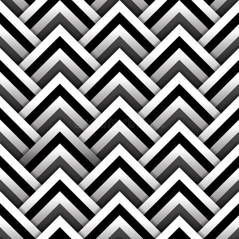 Document vierkanten met schaduw in zwart-wit naadloos patroon, vector stock illustratie