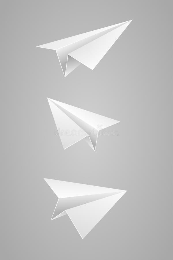 Document vliegtuig stock illustratie