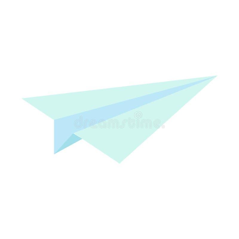 Document vliegtuig vectorillustratie of binnenkomend berichtpictogram Ontworpen voor Web en drukken Lichtblauw vliegtuig voor het vector illustratie