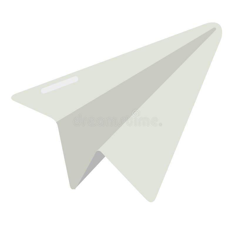 Document Vliegtuig Vlak Pictogram vector illustratie