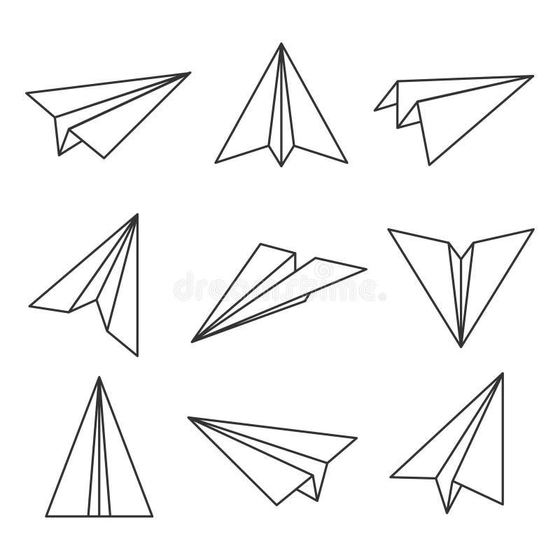 Document vliegtuigoverzicht vector illustratie