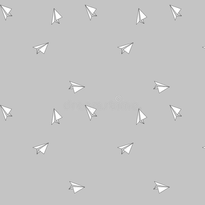 Document vliegtuigpatroon royalty-vrije stock afbeelding