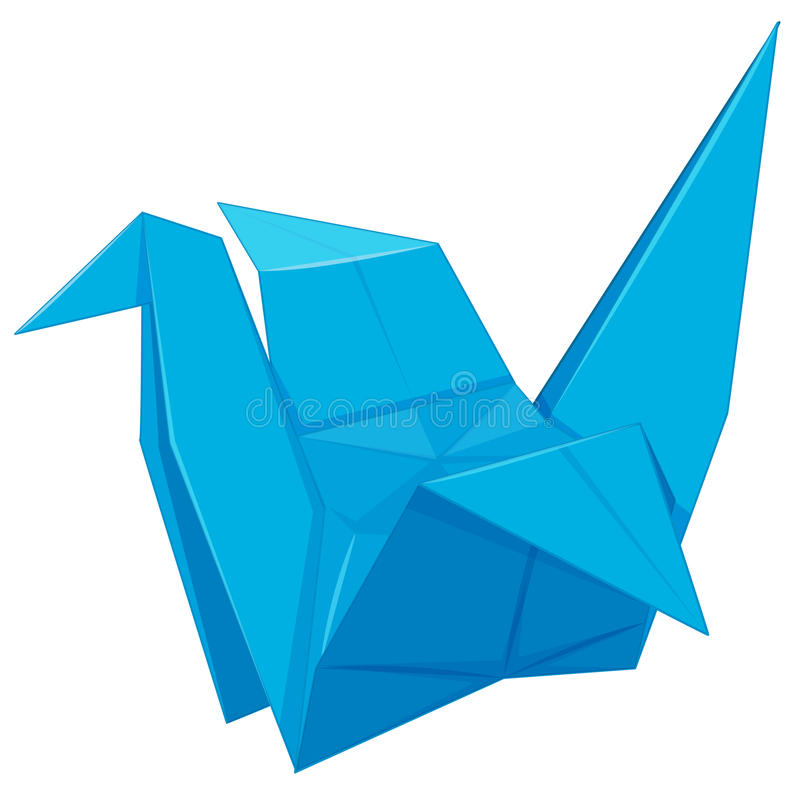 Document vogel in blauwe kleur vector illustratie