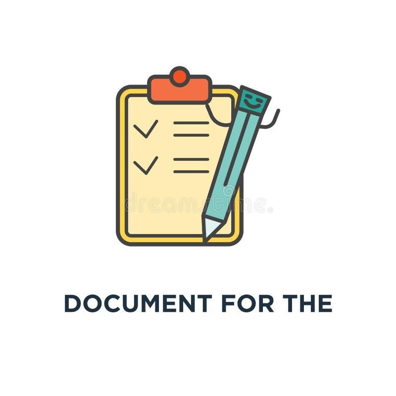 document voor het studiepictogram whitepaper, een stapel documenten, het plan van het ontwikkelingsproduct, overzichtsmalplaatje, vector illustratie