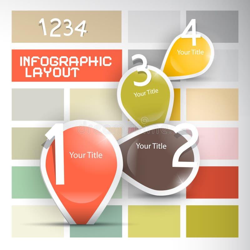 Document vooruitgangsstappen voor leerprogramma, infographicsreeks vector illustratie