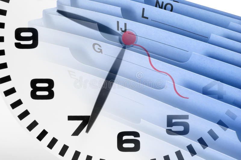 Download Document Wallet and Clock stock photo. Image of clock - 26627842
