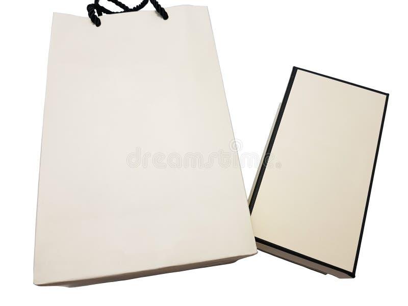 Document zakken en document vakjes op geïsoleerd royalty-vrije stock afbeelding