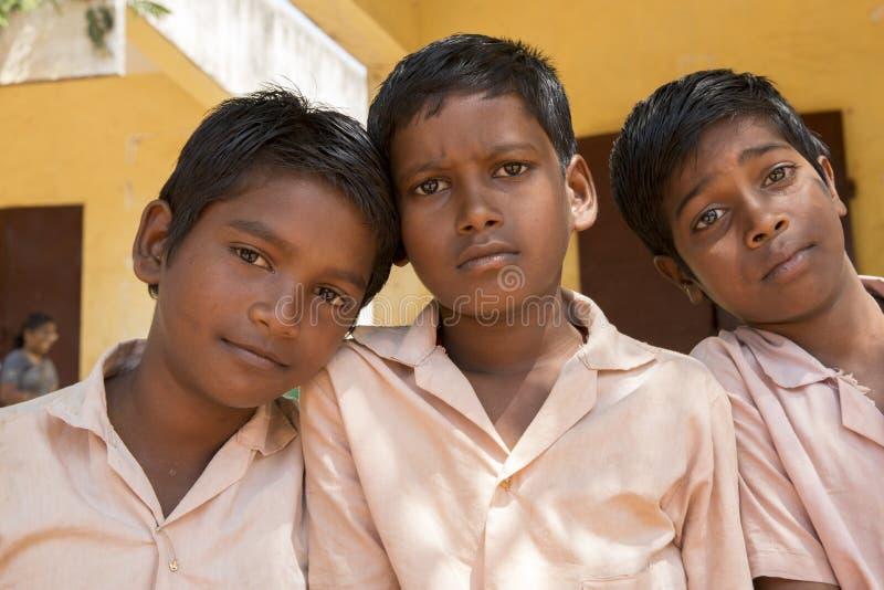 Documentair beeld Edotorial Schoolstudenten royalty-vrije stock fotografie