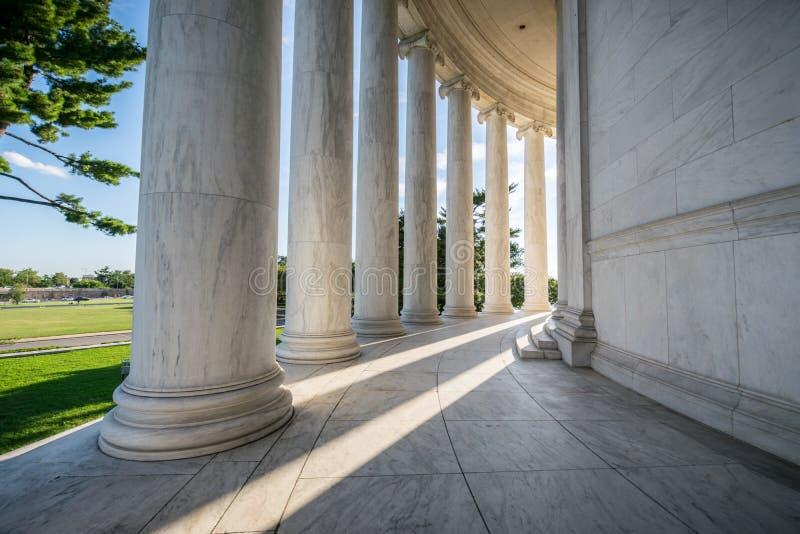 Documentair Beeld van Jefferson Memorial in District van Colum royalty-vrije stock afbeelding