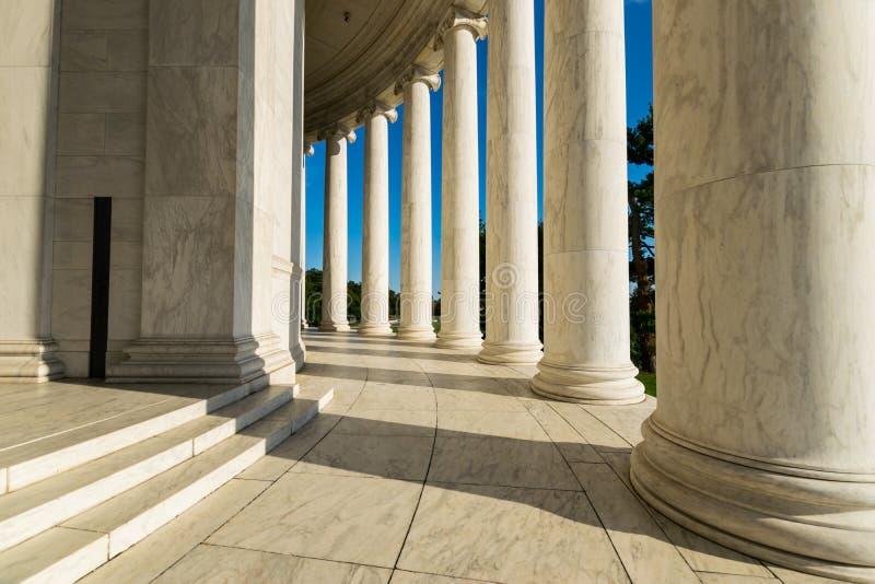 Documentair Beeld van Jefferson Memorial in District van Colum stock foto's