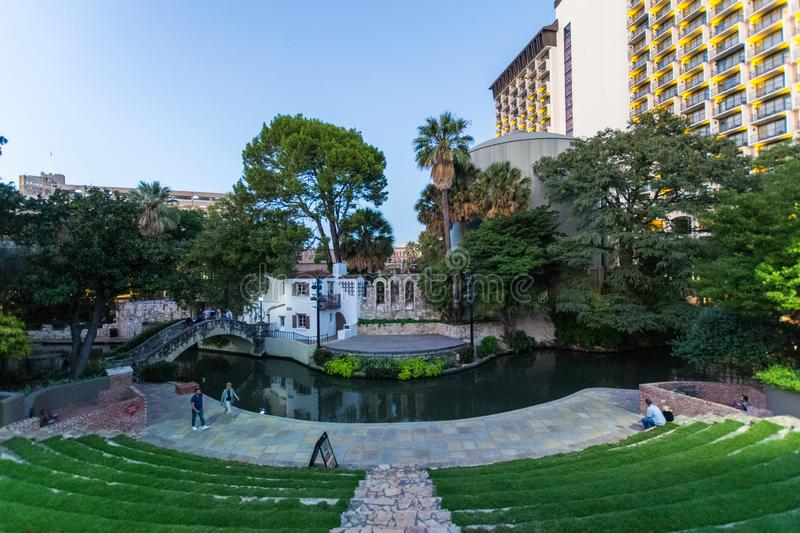 Documentary Image of San Antonios Tourist Destination River Walk stock photos