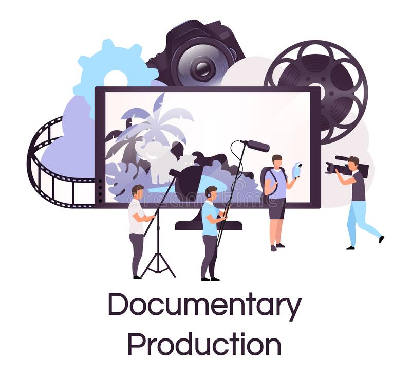 Free Documentary Production Flat Concept Icon Stock Image - 176590071