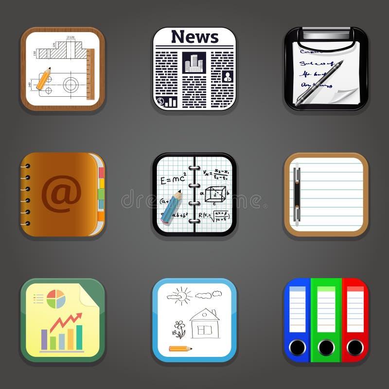 Documenteert apps stock illustratie