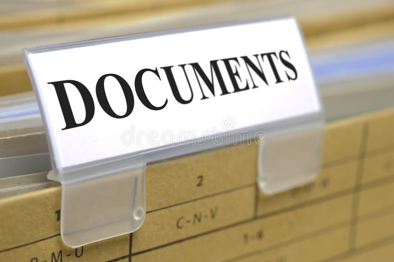 Documenten stock afbeeldingen