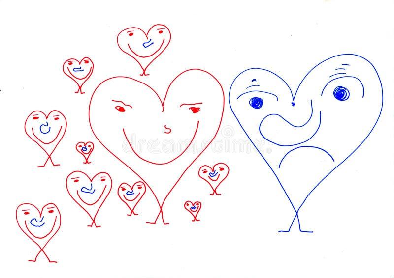 Documenten Mensen - de verrassing van de Valentijnskaartendag royalty-vrije stock fotografie