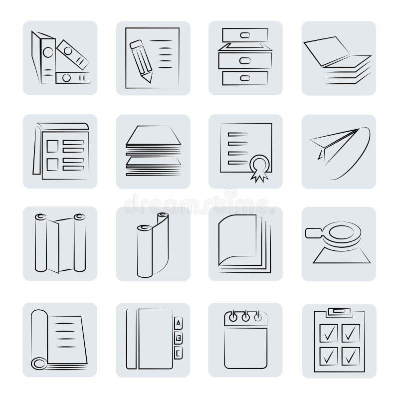 Documentenknopen stock illustratie