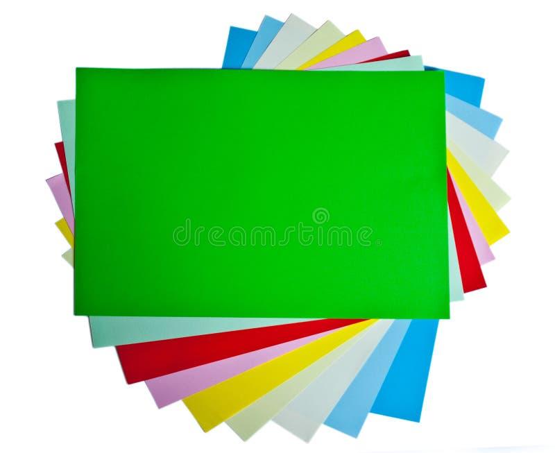 Documenti colorati fotografia stock