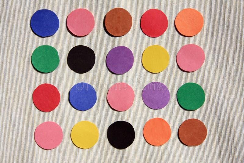 Documenti colorati fotografie stock