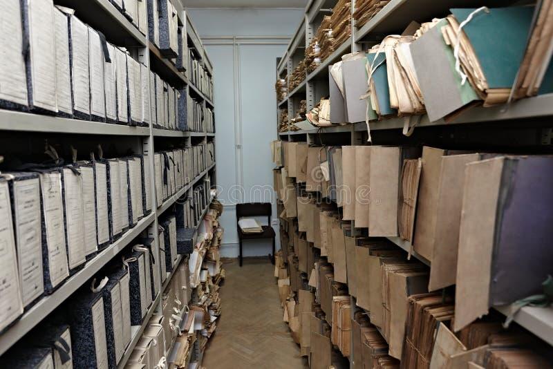 Documenti dell'archivio dell'annata immagine stock libera da diritti