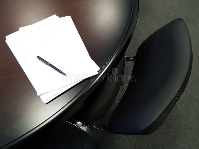 Documenti della firma immagini stock
