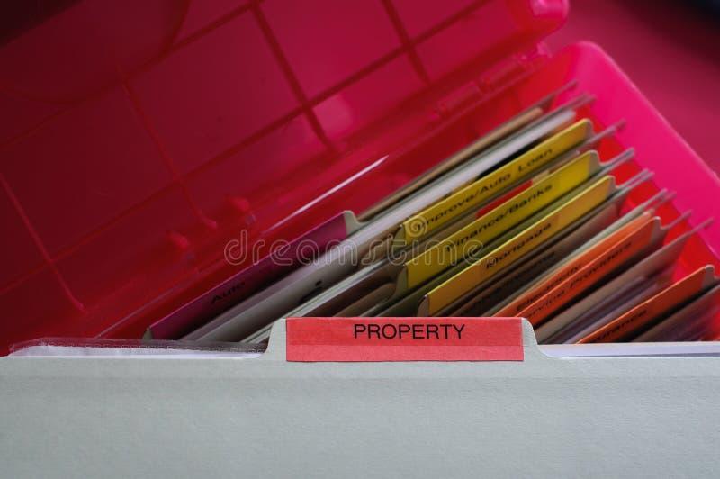 Documenti della proprietà personale fotografie stock libere da diritti