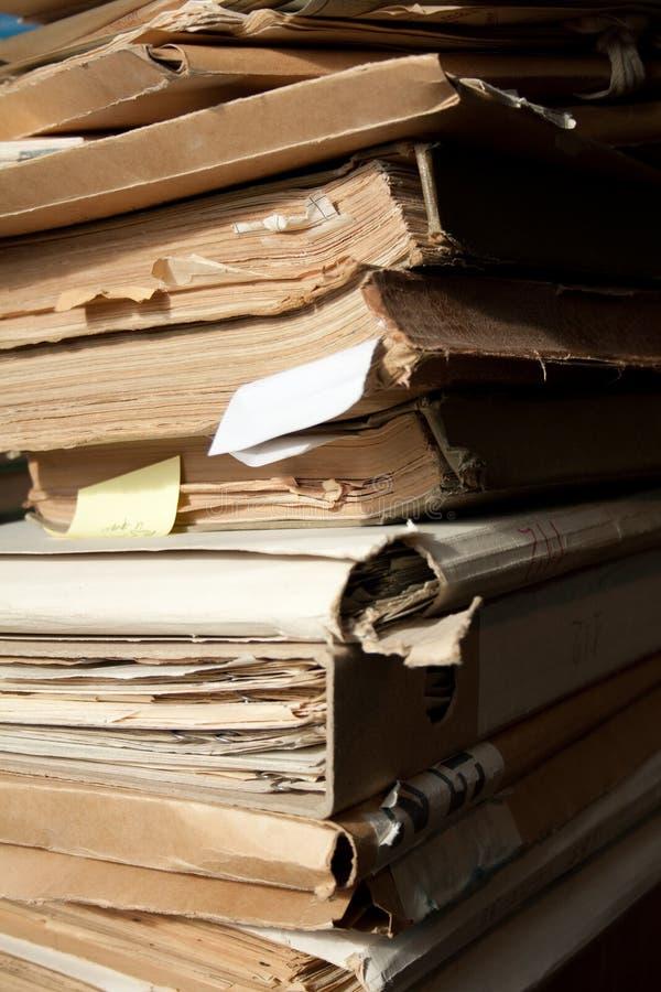 Documenti di carta dell'ufficio fotografie stock libere da diritti