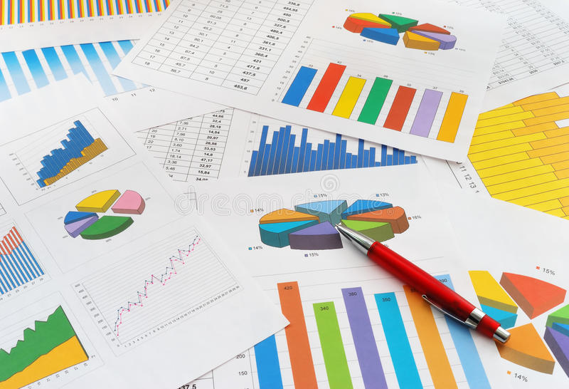 Documenti di finanze immagine stock libera da diritti