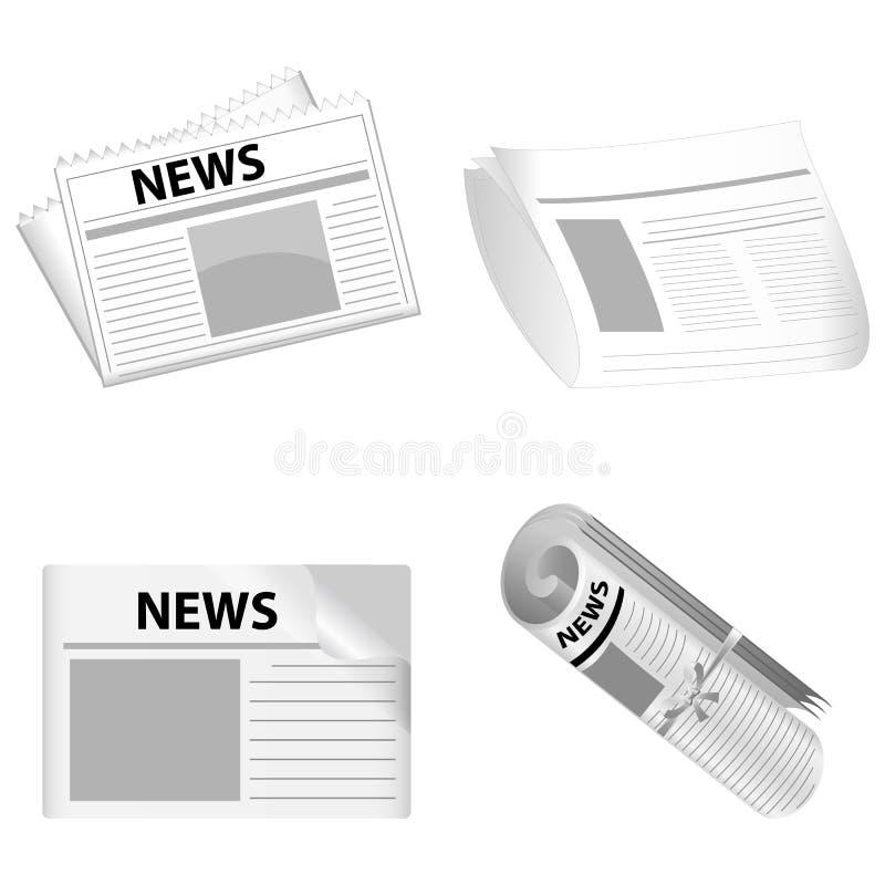 Documenti di notizie illustrazione di stock
