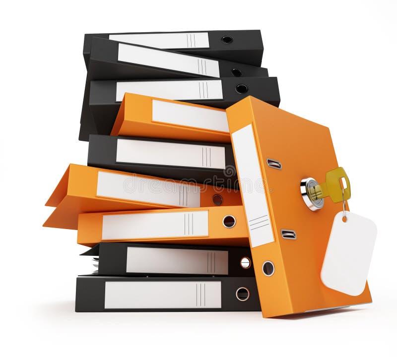 Documenti e dispositivi di piegatura di obbligazione royalty illustrazione gratis
