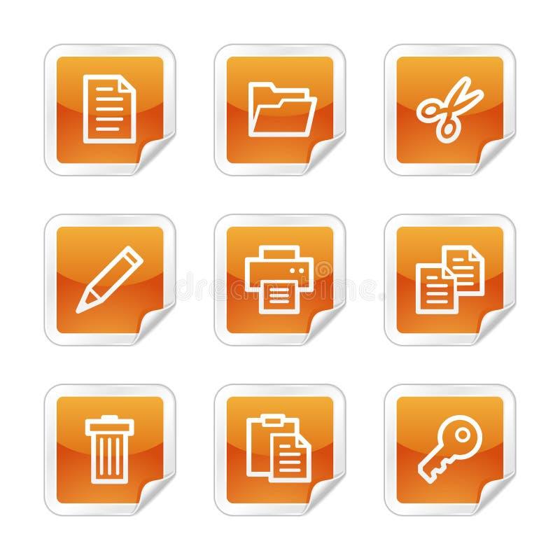 Documenti le icone di Web illustrazione di stock