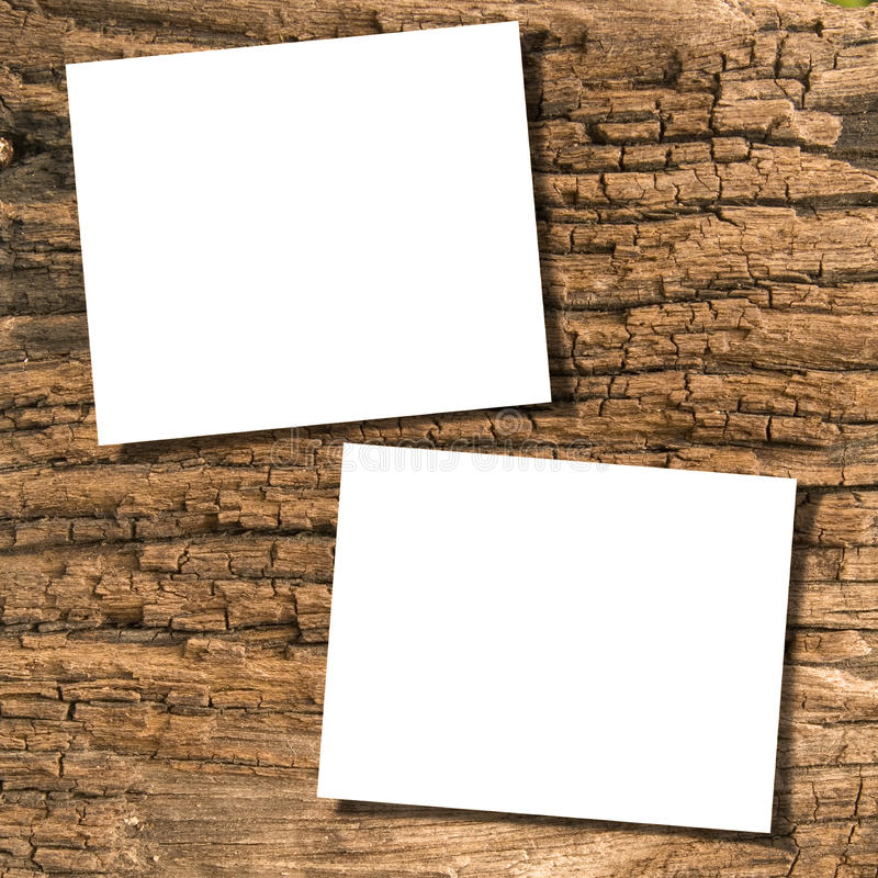 Documenti su legno fotografie stock